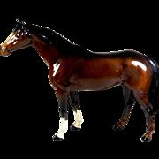 Beswick Brown Gloss Racehorse Figurine