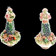 SALE Antique Meissen Marked Flower Encrusted Perfume Scent Bottle