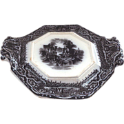SALE Rare 19th Century Adams Athens Mulberry Trivet/Sauce Underplate