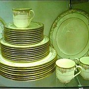 SALE Gorgeous Contemporary Noritake Barrymore Dinner Service for 9 - Discontinued Pattern