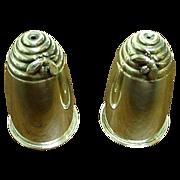 SALE Superb Sterling Silver Gorham Figural Beehive Salts w/Bees