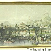 SALE PENDING T.Allom 19th C. Tinted Engraving The Tae-ping Shao Kwan from China Illustrated