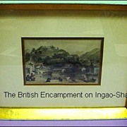 SALE PENDING T. Allom 19th Century Steel Engraving, The British Encampment on Ingao Shan from