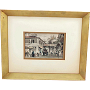 SALE PENDING T. Allom 19th Century Steel Engraving A Street in Canton from China Illustrated