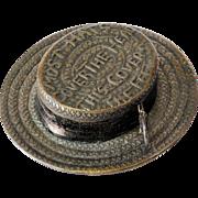 Unique  Vintage  Victorian  Straw  Hat  Tape  Measure