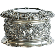 Museum Quality Antique Austro-Hungarian Large Rococo Silver Jewel Box