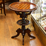 Circa 1870 Victorian Walnut Gaming Table