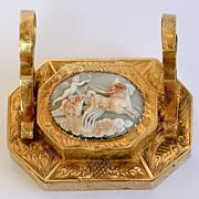 Rare Circa 1860 French Cherub Cameo Inkwell