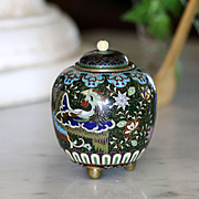 Antique Japanese Cloisonne Ginger Jar