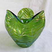 Loetz Circa 1905 Formosa Trifold Vase