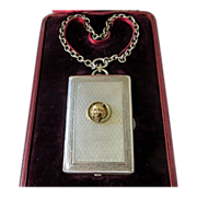 SOLD Antique Sterling Silver & Gold Lady's Wrist Compact