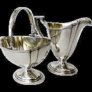 Vintage International Sterling Silver Creamer and Sugar