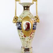 Circa 1890 Art Nouveau Royal Rudelstadt Portrait Vase