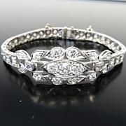 Exquisite Circa 1910 Edwardian Lady's Platinum & Diamond Bracelet