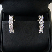 Lady's 14K Vintage Diamond Earrings