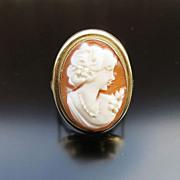 Vintage Italian 14K Lady's Cameo Ring