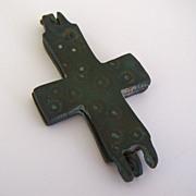 Rare Byzantine Bronze Relic Cross
