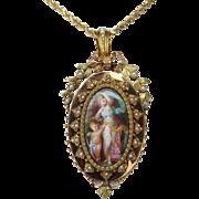 Rare Circa 1880 Antique French 18K Brooch / Pendant / Locket