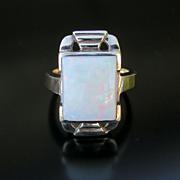 Lady's Circa 1020's Art Deco 10K Opal Ring