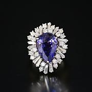 Magnificent Lady's 5.58 Ct. Tanzanite & 2.35 Ct. Diamond Ring