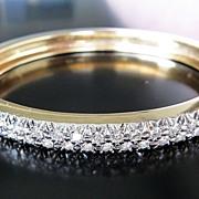 Lady's Vintage 14K 3 Ct. Diamond Bangle Bracelet
