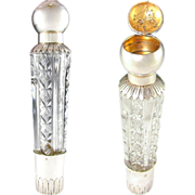 RARE Antique French Sterling Silver Traveling / Opera Liquor Flask & Snuff Box Combination, Cu