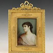 SOLD Antique Austrian Miniature Portrait Gilt Bronze Frame