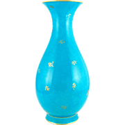 Monumental Antique 19thc French Sevres Porcelain Turquoise Blue Vase