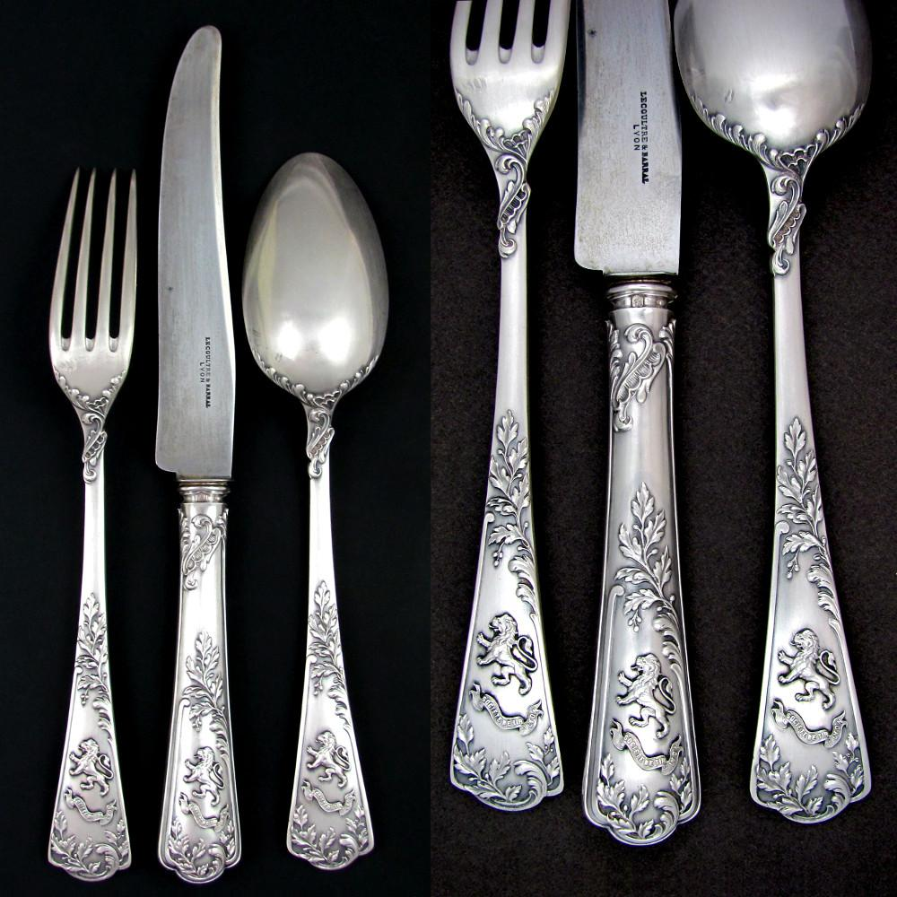 PUIFORCAT Antique French Sterling Silver 3pc Traveler's ...