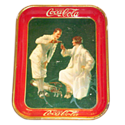 SALE Advertising: Coca Cola 1926 Golfer Or Sports Serving Tray - Marked
