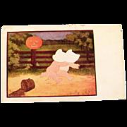 "SALE Halloween ""The Bogie Man"" Postcard by J I Austen"