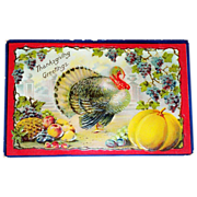 Thanksgiving Greetings Postcard - Marked