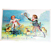SOLD International Art Publishers: All Happiness For Easter Postcard - Marked