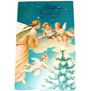 SALE Christmas Greetings Postcard - Marked