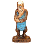 SALE Multi Products Disney Handpainted Syroco Wood Composition Geppetto Character Figurine - .