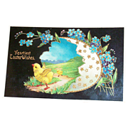 SALE Heartiest Easter Wishes Postcard - Marked
