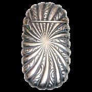 SALE Vintage Silver Plate Match Safe