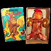 ALPS: Windup Musical Chimp, The Band Leader In Original Box - Japan