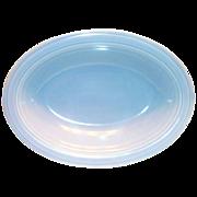 SALE Vernonware: Modern California Azure Blue Oval Stone Ware Vegetable Serving Bowl - Marked