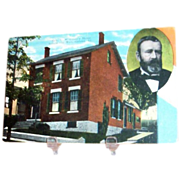 General U.S. Grant's Home Postcard - Marked