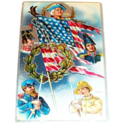 SALE Decoration Day Patriotic Postcard - Marked