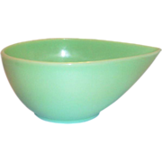 "Fire King Jadite 7 1/4"" - 2 Qt Swedish Modern Mixing Bowl - Marked"