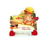 "SALE Vintage Mechanical ""You're My Valentine"" Cardboard Valentine"