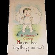 B&S St. Valentine's Greetings Postcard
