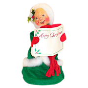 SALE Annalee Mobilitee 1974 Mrs. Claus Merry Christmas Doll