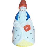 Handpainted Porcelain Colonial Lady Miniature Bell