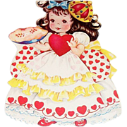Children's Queen Of Hearts Nursery Rhyme Valentines Card