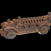 """SALE Vintage 1920's Cast Iron 5""""L Toy Fire Truck"""