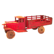 SALE 1930s Red Metal Stake Toy Truck