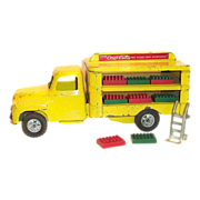 SALE Buddy L 1950's Coca Cola Flat Top Yellow Delivery Truck